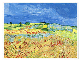 Premiumposter  Fields with Blooming Poppies - Vincent van Gogh