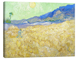 Canvastavla  Wheat Field with Reaper at sunrise - Vincent van Gogh