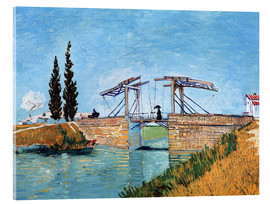 Akrylglastavla  The Langlois Bridge at Arles - Vincent van Gogh