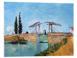 PVC-tavla  The Langlois Bridge at Arles - Vincent van Gogh