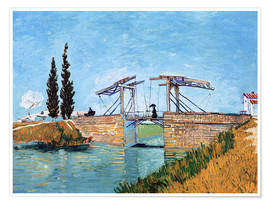 Premiumposter  The Langlois Bridge at Arles - Vincent van Gogh