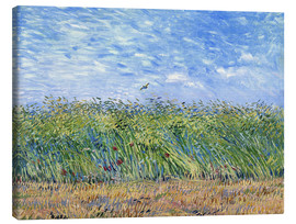 Canvastavla  Wheat Field with a Lark - Vincent van Gogh
