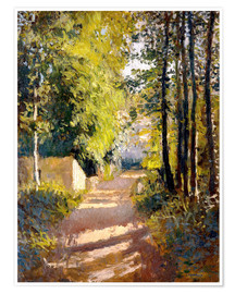 Premiumposter  Path under trees - Gustave Caillebotte