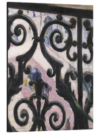 Aluminiumtavla  View through balcony grill - Gustave Caillebotte