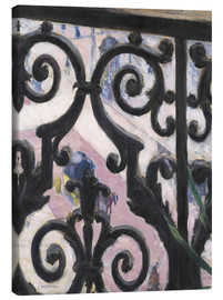 Canvastavla  View through balcony grill - Gustave Caillebotte