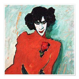 Premiumposter  Portrait of the dancer Alexander Sakharov - Alexej von Jawlensky
