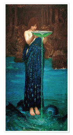 Poster  Circe Invidiosa - John William Waterhouse