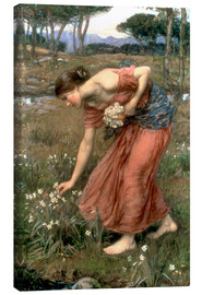 Canvastavla  Narcissus - John William Waterhouse