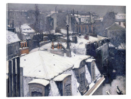 Akrylglastavla  Roofs in the snow - Gustave Caillebotte
