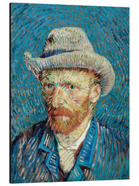 Aluminiumtavla  Vincent van Gogh with Grey Hat - Vincent van Gogh