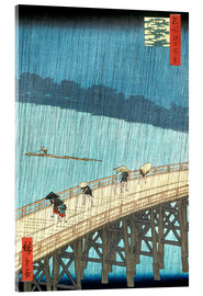 Akrylglastavla  Ohashi bridge in the rain - Utagawa Hiroshige