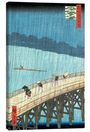 Canvastavla  Sudden Shower Over Shin-Ohashi Bridge and Atake - Utagawa Hiroshige