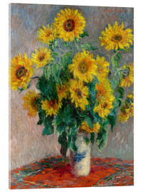 Akrylglastavla  Bouquet of Sunflowers - Claude Monet