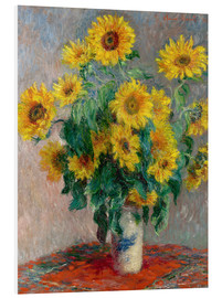 PVC-tavla  Bouquet of Sunflowers - Claude Monet