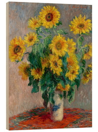 Trätavla  Bouquet of Sunflowers - Claude Monet