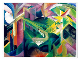 Premiumposter  Deer in the monastery garden - Franz Marc