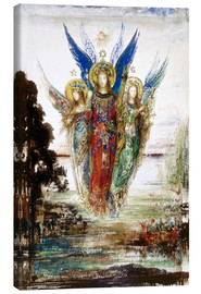 Canvastavla  Job and the Angels - Gustave Moreau