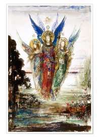 Premiumposter  Job and the Angels - Gustave Moreau