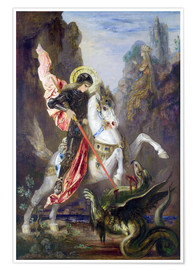 Premiumposter  St. George and the Dragon - Gustave Moreau