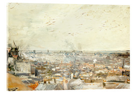 Akrylglastavla  Roofs of Paris from Montmartre - Vincent van Gogh