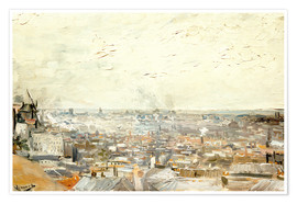 Premiumposter Roofs of Paris from Montmartre