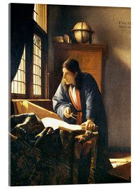 Akrylglastavla  A geographer or astronomer in his study - Jan Vermeer