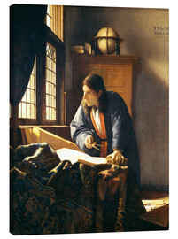 Canvastavla  A geographer or astronomer in his study - Jan Vermeer