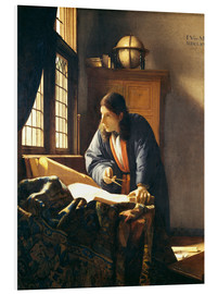 PVC-tavla  A geographer or astronomer in his study - Jan Vermeer