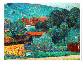 Premiumposter  Moated castle, Wasserburg am Inn - Alexej von Jawlensky