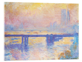 Akrylglastavla  Charing Cross Bridge - Claude Monet