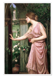 Premiumposter Psyche entering Cupid's Garden