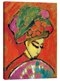 Canvastavla  Young Girl in a Flowered Hat - Alexej von Jawlensky