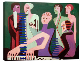 Canvastavla  Singer at the piano - Ernst Ludwig Kirchner