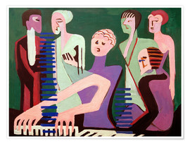 Premiumposter  Singer at the piano - Ernst Ludwig Kirchner