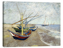 Canvastavla  Fishing Boats on the Beach at Saintes-Maries - Vincent van Gogh