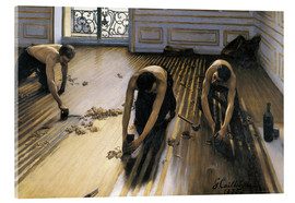 Akrylglastavla  The Floor Scrapers - Gustave Caillebotte