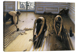 Canvastavla  The Floor Scrapers - Gustave Caillebotte