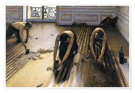 Premiumposter  The Floor Scrapers - Gustave Caillebotte