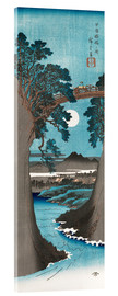 Akrylglastavla  Moon Over the Monkey Bridge in Kai Province - Utagawa Hiroshige