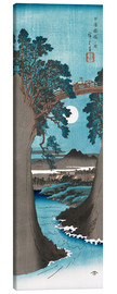 Canvastavla  Moon Over the Monkey Bridge in Kai Province - Utagawa Hiroshige