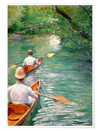 Premiumposter Paddle boats