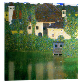 Akrylglastavla  Castle chamber on the Attersee I - Gustav Klimt