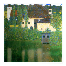 Premiumposter  Castle chamber on the Attersee I - Gustav Klimt