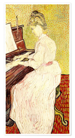 Premiumposter Marguerite Gachet at the piano