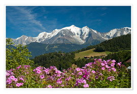 Premiumposter  View from the village Cordon to Mont Blanc Massif, France - Frauke Scholz