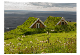 PVC-tavla  Traditional Houses in the Skaftafell National Park, Iceland - Markus Ulrich