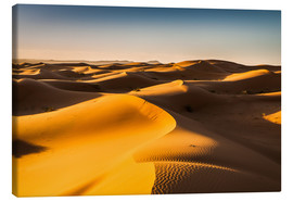 Canvastavla  Desert landscape at sunrise - Andreas Wonisch