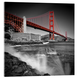 Akrylglastavla  Golden Gate Bridge Fort Point - Melanie Viola