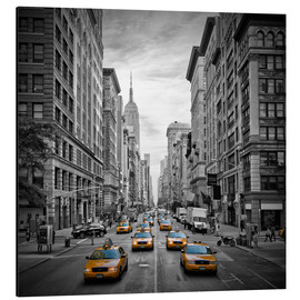 Aluminiumtavla  NEW YORK CITY 5th Avenue Traffic - Melanie Viola