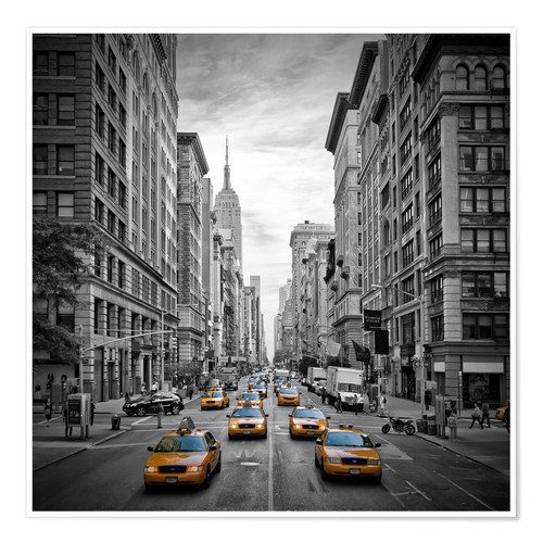 Premiumposter NEW YORK CITY 5th Avenue Traffic
